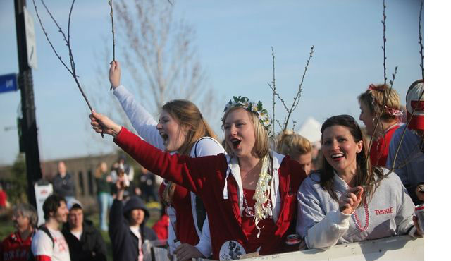Happy Dyngus Day!  Look for the Red WBBZ-TV Truck in the Big Parade Monday!