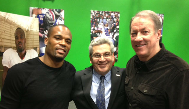 """Jim Kelly Visited """"The Fred Jackson Show"""" on WBBZ-TV"""