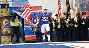 Fred Jackson 2015 with Flag
