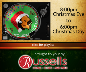 "Russell Salvatore Presents ""The Yule Log"" Christmas Eve and Christmas Day! Click Here For The Playlist!"