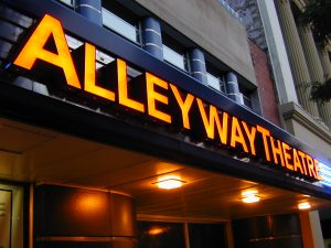 """""""I'm Fine"""" on stage at Alleyway Theatre"""