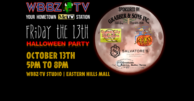 """WBBZ-TV Presents FREE """"Friday The 13th"""" Pre-Halloween Party 5-8p.m ..."""