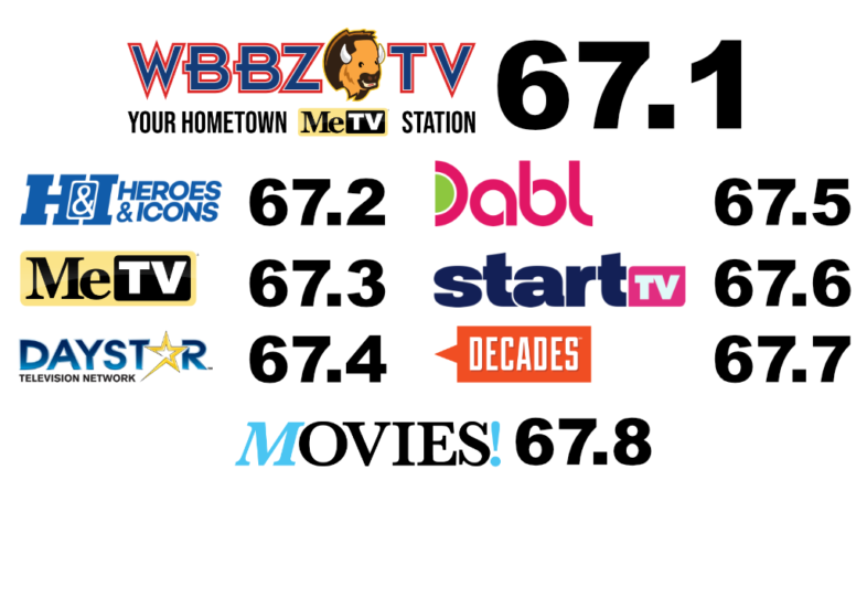 """New Channels from WBBZ are """"On-The-Air!"""""""