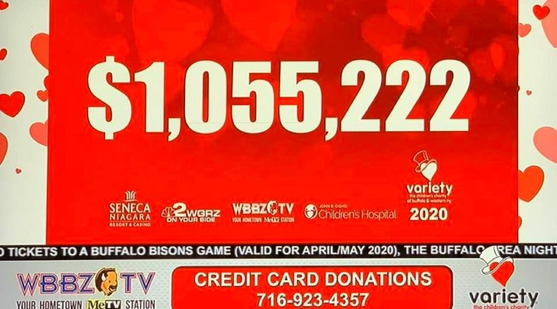 Variety Kids Telethon Raised $1,055,222 on WBBZ-TV