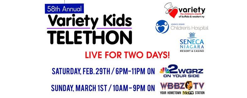 Goo Goo Dolls Headline Variety Kids Telethon on WGRZ Channel 2 Saturday February 29th 6pm-11pm & Sunday March 1st WBBZ-TV 10am-9pm